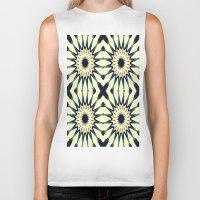 chic Biker Tanks featuring Tropical Paradise Flower Mandala Pattern by 2sweet4words Designs