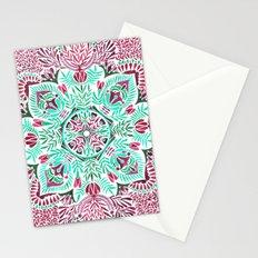Vibrant floral mandala Stationery Cards