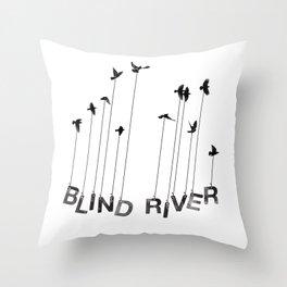 Blind River Birds Throw Pillow
