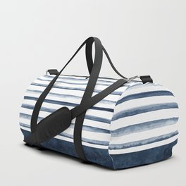 Watercolor Stripes Pattern Duffle Bag