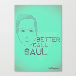 Breaking Bad - Faces - Saul Canvas Print