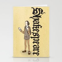shakespeare Stationery Cards featuring Shakespeare 2  by Matthew Morris