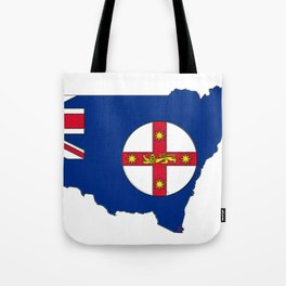 New South Wales Australia Map with NSW Flag Tote Bag