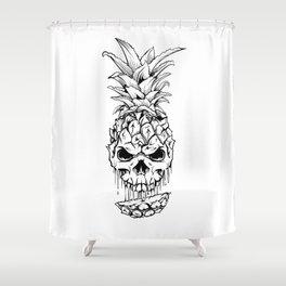 Skull Pineapple Fruit Shower Curtain