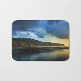 Cape Lookout Thunderstorm at Sunset Bath Mat