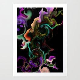 acrylic marble Art Print