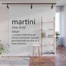 The cocktail series: 'martini' Wall Mural