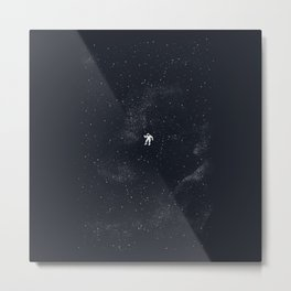 Gravity - Dark Blue Metal Print