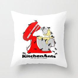 Kitchen Ants Throw Pillow
