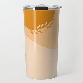 Straw Field Abstract Illustration Travel Mug