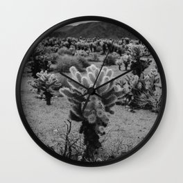 Cholla Cactus Garden V Wall Clock