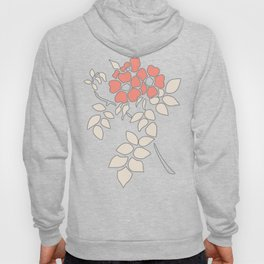 FLORAL IN BLUE AND CORAL Hoody