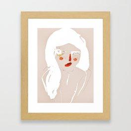 'messy hair' Framed Art Print
