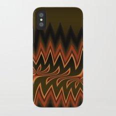Fractal Tribal Art in Autumn Slim Case iPhone X