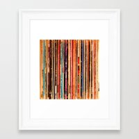 vinyl Framed Art Prints featuring Vinyl by bomobob