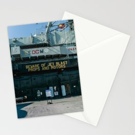 Beware of Jet Blast - Military Aircraft Carrier Stationery Cards