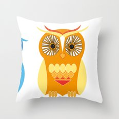 Sad, Happy, Angry Throw Pillow