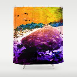 The adventure of the flounder Shower Curtain