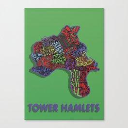 Tower Hamlets - London Borough - Colour Canvas Print