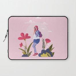 pink garden in my mind Laptop Sleeve
