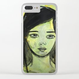 Ink Portrait Clear iPhone Case