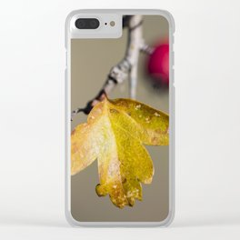 Red and yellow Clear iPhone Case