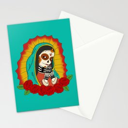Virgin de Guadalupe Sugar Skull Stationery Cards