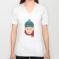 home alone V-neck T-shirts featuring Home alone Kevin by Gary  Ralphs Illustrations