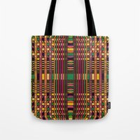 grid Tote Bags featuring Grid by Glanoramay
