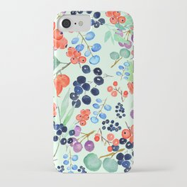 joyful berries iPhone Case