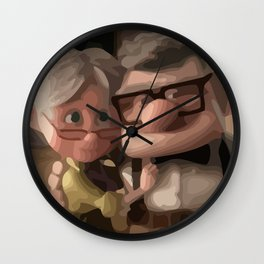 up love Wall Clock