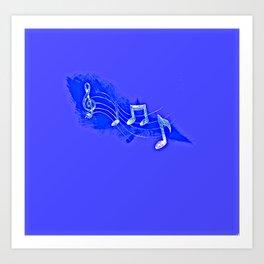 Blue Notes Art Print