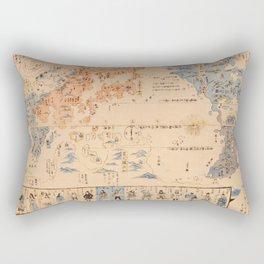 19th Century Japanese Map of the World Rectangular Pillow
