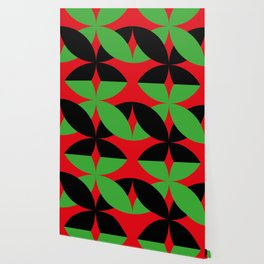Two four-leaf clovers hugging in a beautiful deep red space. How lucky! Wallpaper