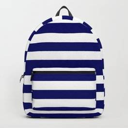 Navy and White Stripes Backpack