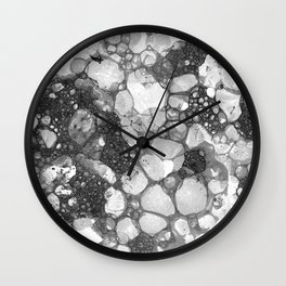 Ink Bubbles, II Wall Clock