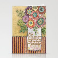 mom Stationery Cards featuring Mom by Jamie Morath Art