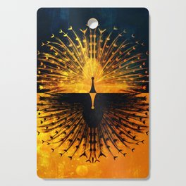 Peacock - Mad Men inspired Cutting Board