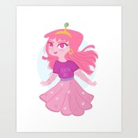princess bubblegum Art Prints featuring Bubblegum by Pilotinta