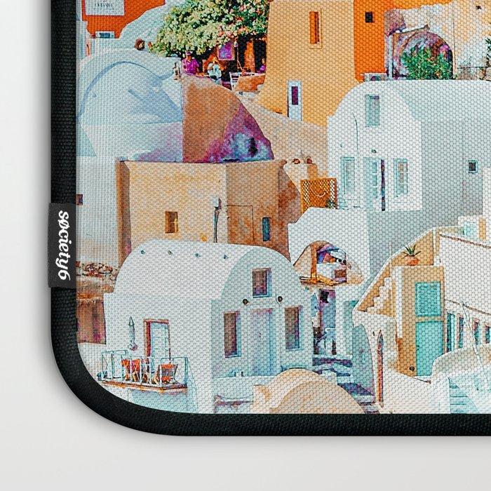 Santorini Vacay #photography #greece #travel Laptop Sleeve