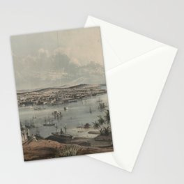 Vintage Pictorial Map of Havana Cuba (1851) Stationery Cards