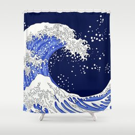 Great Blue Wave Shower Curtain