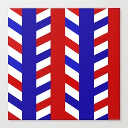 Striped Red Blue Pattern Canvas Print
