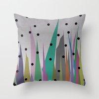 grass Throw Pillows featuring Grass by Olivia James