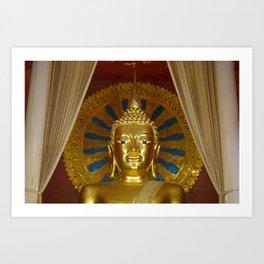 golden budha Art Print