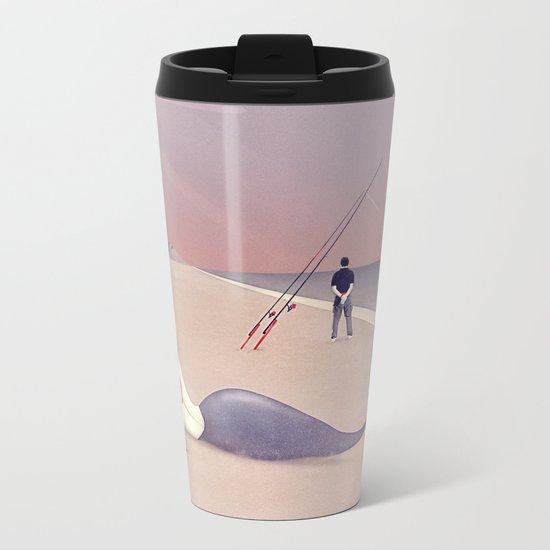 Keep Fishing Metal Travel Mug