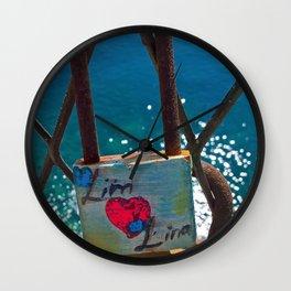 Love Locks Wall Clock
