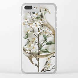 Sheds & Blossoms Clear iPhone Case