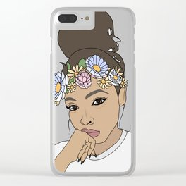 Flower Crown Filter Tinashe Clear iPhone Case