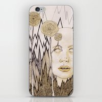 anxiety iPhone & iPod Skins featuring Anxiety by Gabi Pezoa